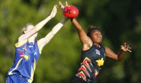 BRISBANE, AUSTRALIA - OCTOBER 21:PNG v Townsville  during the 2016 Under 17's Youth Girls Championships at Leshon Park on October 21, 2016 in Yeronga, Brisbane, Australia. (Photo by Jason O'Brien/AFL Media)