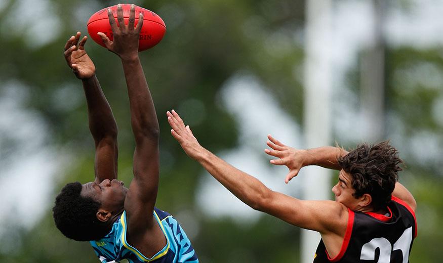 MELBOURNE, AUSTRALIA - NOVEMBER 14: Action during the Flying Boomerangs v Victorian Diversity All Stars match at Punt Road Oval, Melbourne on November 14, 2015. (Photo: Michael Willson/AFL Media)