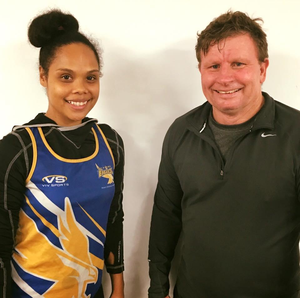 Eliana Kaputin with Zillmere coach John Taylor
