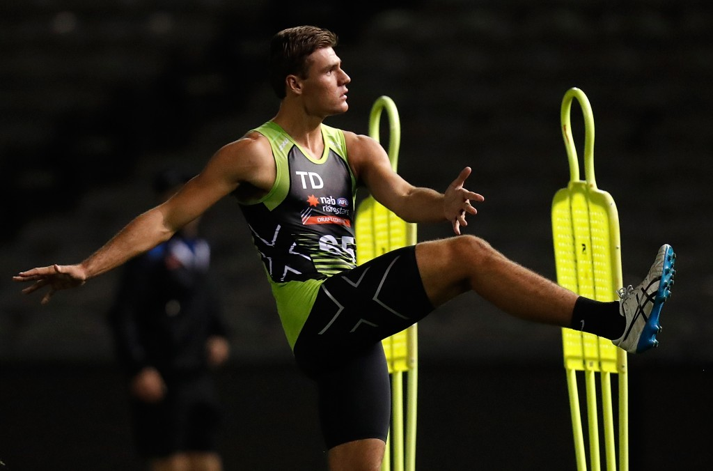 MELBOURNE, AUSTRALIA - OCTOBER 04: Jack Payne in action during the AFL Draft Combine at Etihad Stadium on October 4, 2017 in Melbourne, Australia. (Photo by Michael Willson/AFL Media)