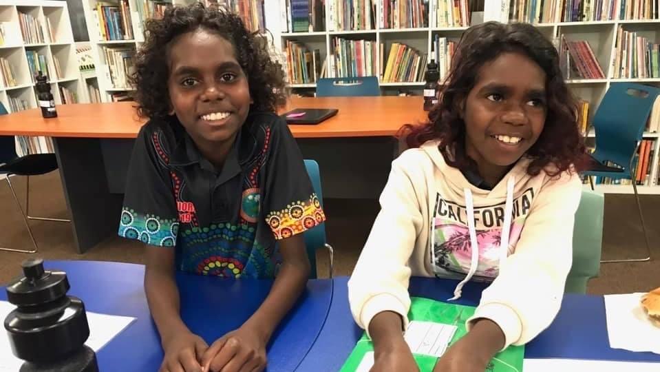 Greta Woolla and Meleta Yunkaporta from the Aurukun Aboriginal Community settling into Cape York House